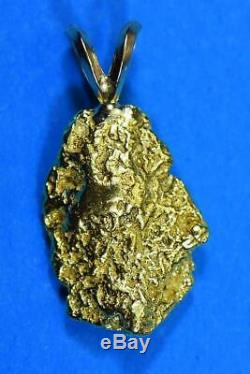 #702 Alaskan-Yukon BC Natural Gold Nugget Pendant 4.00 Grams Authentic