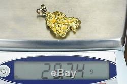 #705 Alaskan-Yukon BC Natural Gold Nugget Pendant 29.74 Grams Authentic