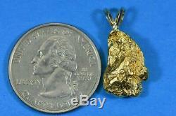 #717 Alaskan-Yukon BC Natural Gold Nugget Pendant 5.72 Grams Authentic