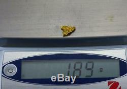 #782 Australian Natural Gold Nugget 1.89 Grams Genuine