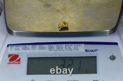 #951 Natural Gold Nugget Australian 3.21 Grams Genuine