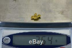 #979 Australian Natural Gold Nugget 2.54 Grams Genuine