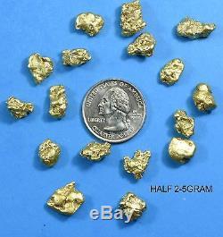 Alaskan BC Natural Gold Nugget 100 Gram lot of 2 to 5 gram Nuggets Genuine