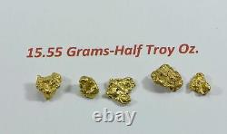 Alaskan BC Natural Gold Nugget 15.55 Gram lot of 2 to 5 gram Nuggets Genuine B&C