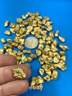 Alaskan BC Natural Gold Nugget 311.00 Gram lot of 2 to 5 gram Nuggets Genuine 10