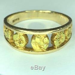 Alaskan Gold Nugget Ring 22k 14K Mens Size 11.25 Handmade Alaska NATURAL REAL