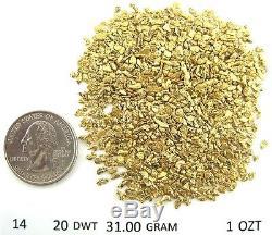 Alaskan-Yukon BC Natural Gold Nugget 14-12 Mesh 3 Troy Ounce 93.3 Gram 60 DWT