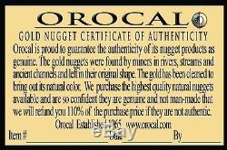 Alaskan-Yukon BC Natural Gold Nugget #4 Mesh 1/4 Troy Ounce 7.75 Gram 5 DWT