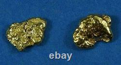 Alaskan-Yukon BC Natural Gold Nugget Stud Earrings. 90 to 1.00 Grams