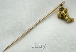 Antique Rare Natural Pure Gold Nugget Stick / Tie Pin