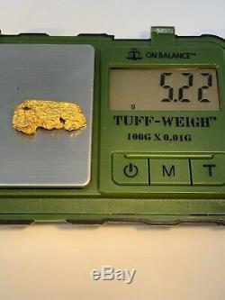 Australia Natural Gold Nugget / Nuggets Weight 5.22 Grams