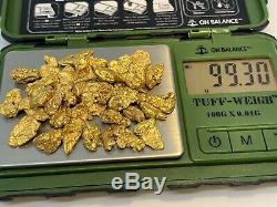 Australia Natural Gold Nugget / Nuggets Weight 99.30 Grams