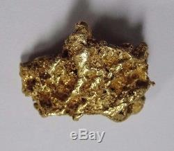 Australian Natural 16.1 Gram Gold Nugget Specimen 23K #AZ-AGN1212