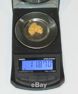 Australian Natural Gold Nugget 11.87 Grams