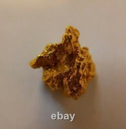 Australian Natural Gold Nugget 2.600 Grams Genuine
