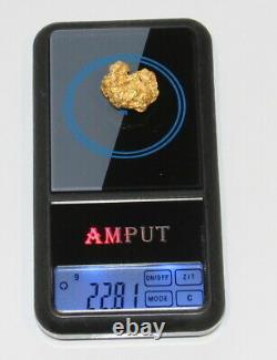 Australian Natural Gold Nugget 22.81 Grams