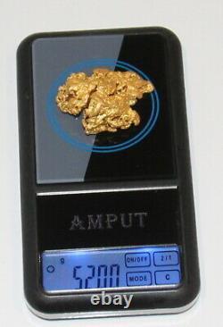 Australian Natural Gold Nugget 52.00 Grams