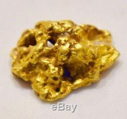 Authentic Australian Natural Gold Nugget Wt 7.4 Grams Bendigo Area High Carat