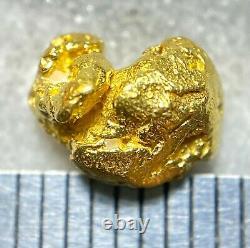 Beautiful Alaskan Natural Placer Gold Nugget 1.284 grams Free Shipping! #A2098