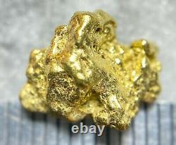 Beautiful Alaskan Natural Placer Gold Nugget 1.994 grams Free Shipping! #A2186