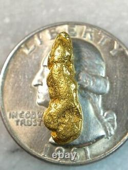 Beautiful Alaskan Natural Placer Gold Nugget 2.138 grams Free Shipping! #A1294