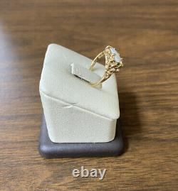 Beautiful Estate 10KT Yellow Gold 417 Genuine Pearl Nugget Ring SZ 7.25
