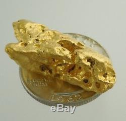 Beautiful Large Alaskan Natural Gold Nugget 25.9 Grams 96.30% Gold 23K