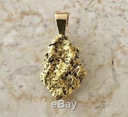 Beautiful Natural Alaskan Placer Gold River Nugget Pendant 12.4 grams
