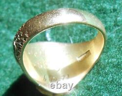 C. 1930 Mens 10k & 22k Natural Gold Nugget Ostby & Barton Eagle Signet Ring