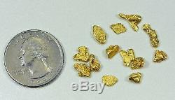 California Gold Nuggets 5 Grams of #6 Mesh Gold Authentic Natural Feather River
