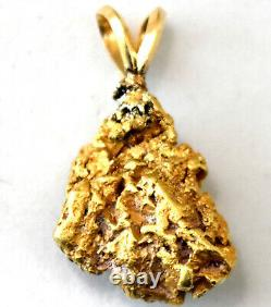 California Natural 18-21K Solid Gold Nugget Pendant 7.66 Grams