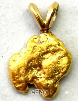 California Natural 18K-21K Solid Gold Nugget Pendant 1.43 Grams