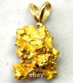 California Natural 18K-21K Solid Gold Nugget Pendant 2.30 Grams