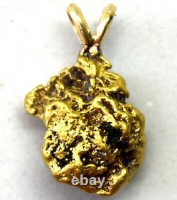 California Natural 18K-21K Solid Gold Nugget Pendant 2.67 Grams