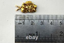 California Natural 18K-21K Solid Gold Nugget Pendant 4.98 Grams