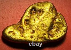Californian Natural Gold Nugget, 3.7 Grams, Tested over 22K