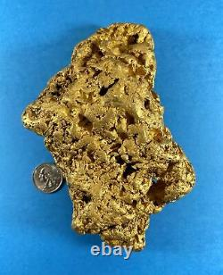 Crikey She's Dense Natural Gold Nugget Australian 3089.5 Grams 99.34 Troy Ounc