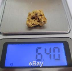 GOLD NUGGET 6.40 Grams AUSTRALIAN NATURAL BALLARAT GOLD
