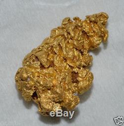 GOLD NUGGET NATURAL CRYSTAL 2.945 grams Gilbert River Georgetown QLD Australia