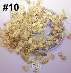 GOLD NUGGETS 15+ GRAMS Alaskan AK Natural Placer #12 Mesh Jewelers Grade Hi Pure