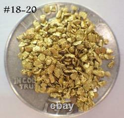 GOLD NUGGETS 2.534 GRAMS Placer Alaska Natural #18-#20 Screen High Purity