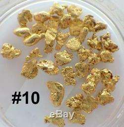 GOLD NUGGETS 3+ GRAMS Natural Placer Alaska Natural #10 Swift Creek Hi Purity