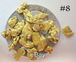 GOLD NUGGETS 3+ GRAMS Natural Placer Alaskan Natural #8 Napoleon Creek Hi Purity