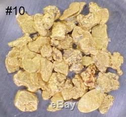 GOLD NUGGETS 3+ GRAMS Placer Alaska Natural #10 Jewelers Grade FREE Shipping