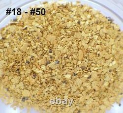 GOLD NUGGETS 5+ GRAMS Alaskan Natural Placer #18 #50 Mesh Mammoth Creek