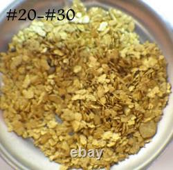 GOLD NUGGETS 5+ GRAMS Alaskan Natural Placer #20 #30 Mesh Porcupine Creek