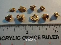 GOLD NUGGETS 6.2 GRAMS Natural California Placer Gold Mined in Placerville, Ca