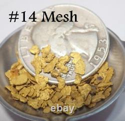 GOLD NUGGETS 7+ GRAMS Alaska Natural Placer #14 Mesh Jewelers Grade Hi Purity
