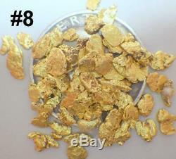 GOLD NUGGETS 7+ GRAMS Alaskan Natural Placer #8 Screen Ganes Creek Chunky