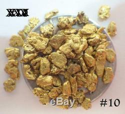 GOLD NUGGETS 7+ GRAMS Natural Placer Alaska Natural #10 Napoleon Creek Hi Pure